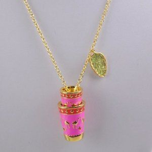 Enamel Glaze Camel Tea Cup Necklace